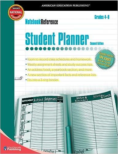 Notebook Ref:Student Planner Gr.4-8