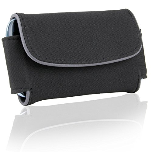 Protective Sunglasses Carrying Case with Executive Style and Belt Holster Clip by USA Gear - Great for Oakley GasCan , Half Jacket , Frogskins and many more - Sunglasses Custom Manufacturer
