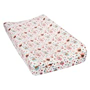 Trend Lab Playful Elephants Deluxe Flannel Changing Pad Cover