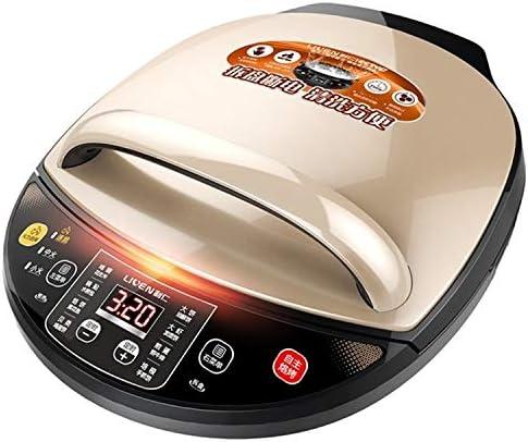 WTYD ホームキッチン用品 自動二重暖房の世帯の電気耐熱の深皿のパンケーキ機械電気ケーキのClang (色 : Gold)