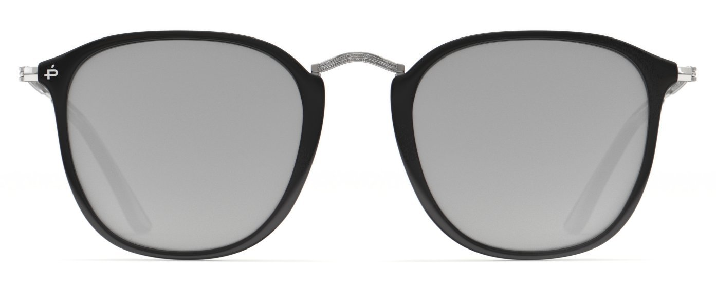 PRIVÉ REVAUX Places We Love Collection''The London'' Polarized Handcrafted Designer Square Sunglasses RandM Colab (Black)