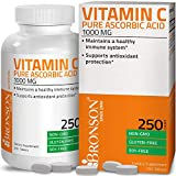 Vitamin C 1000 mg Premium Non-GMO Gluten Free Ascorbic Acid - Maintains Healthy Immune System, Supports Antioxidant Protection - 250 Tablets