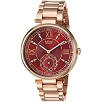 Burgi Women's Quartz Stainless Steel Casual Watch, Color:Rose Gold-Toned (Model: BUR175RG)