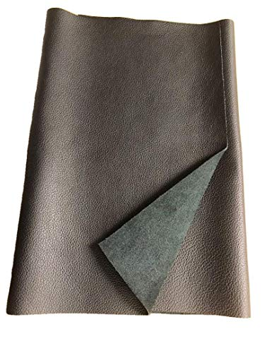 REED LEATHER HIDES - COW SKINS VARIOUS COLORS & SIZES (12 X 24 Inches 2 Square Foot, BLACK)
