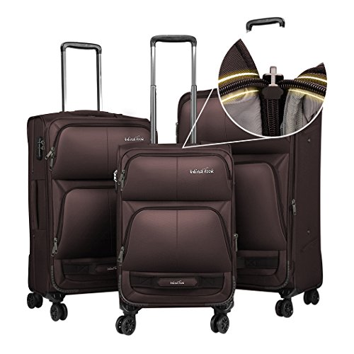 Windtook 3 Piece Luggage Sets Expandable Spinner Suitcase Bag for Travel and Business (8050-Coffee-YKK) by WindTook