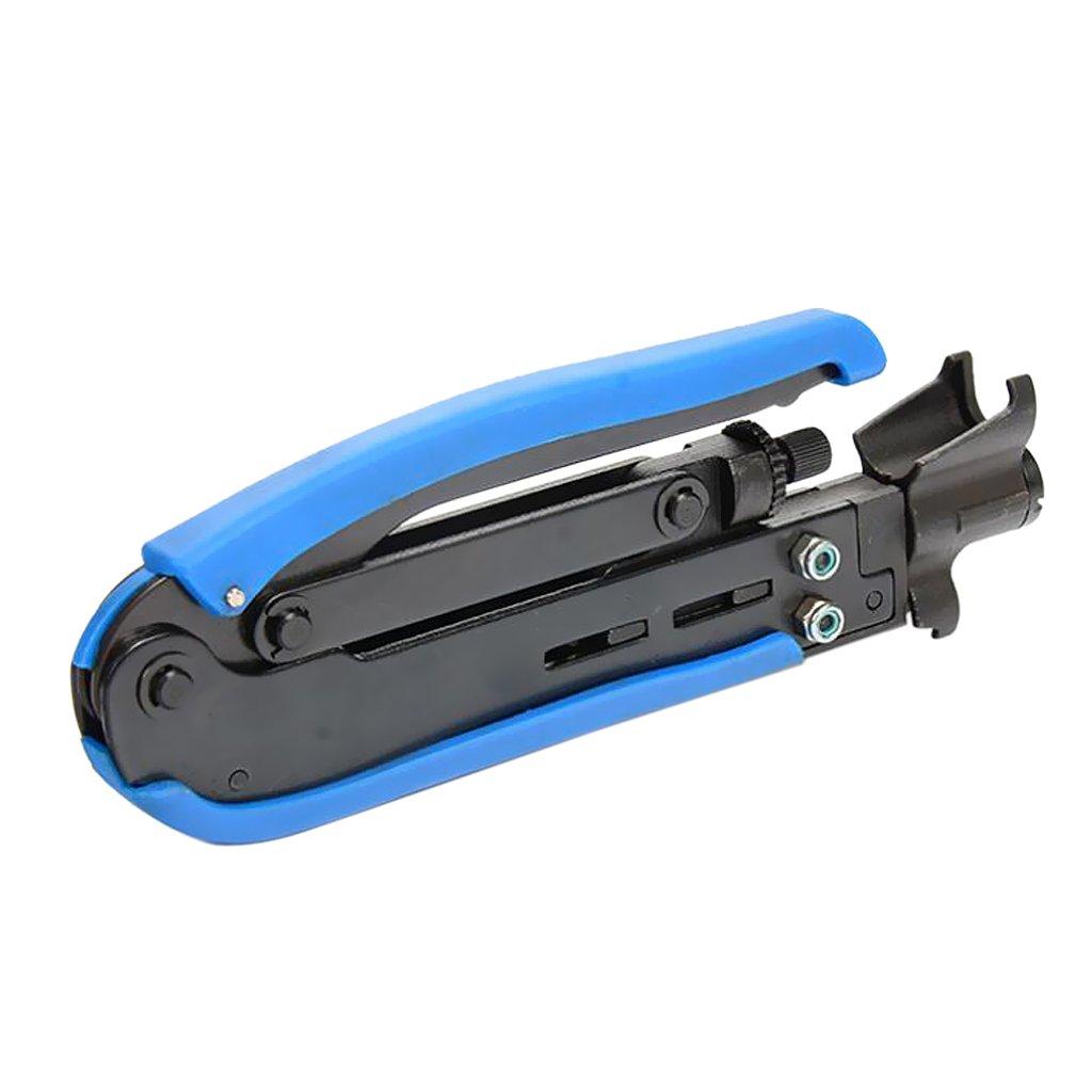 MagiDeal Pinze Compressione Crimpatura Cavo Tipo F Attrezzo Aggraffatura Spelafili RG59/RG6/RG11