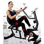 Allenamento-Horizontal-Spin-Bike-Professionale-Cyclette-Aerobico-Home-Trainer-Monitoraggio-Della-Frequenza-Cardiaca-Regolazione-Della-Resistenza-a-8-Livelli-Volano-Silenzioso-Compreso