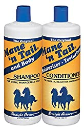 Straight Arrow Products The Original Mane \'N Tail Shampoo and Conditioner Combo, 32-Ounce