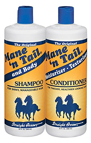Straight Arrow Products The Original Mane 'N Tail Shampoo and Conditioner Combo, 32-Ounce