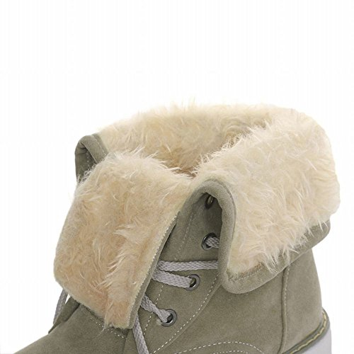 Concise Flatform Green Carol Mid Shoes Army calf Casual Boots Snow Women's Hqqw1tT
