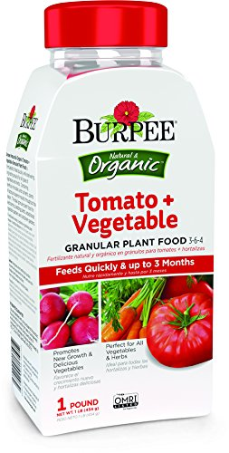 Burpee 99975 Tomato Vegetable Fertilizer Organic Granular Plant Food, 1 lb