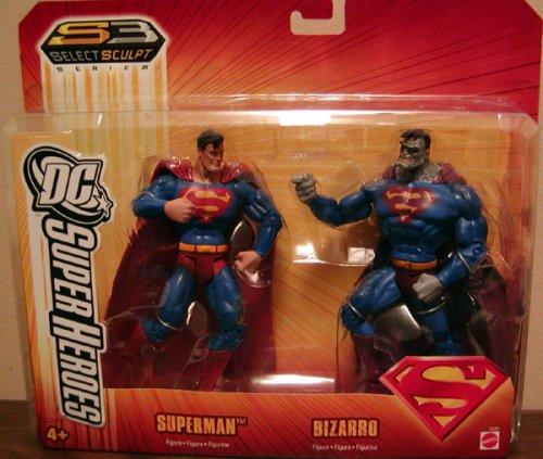 DC super heroes SUPERMAN vs BIZARRO 2 pack target exclusive mattel