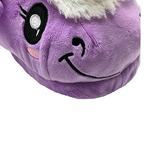 Adults Toys pink Shoes Unicorn and House purple Slippers Plush Winter For Slippers Warm Children WDA aZqA77