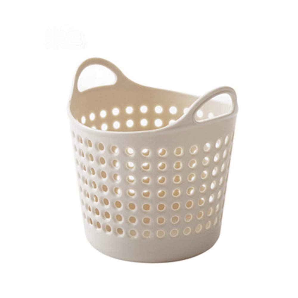 YaidaMini Desktop Storage Trash Basket Creative Fashion Trash Can (Beige)