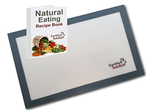Earthly Solution Professional Grade Silicone Baking Mat, with Ebook, 16.5