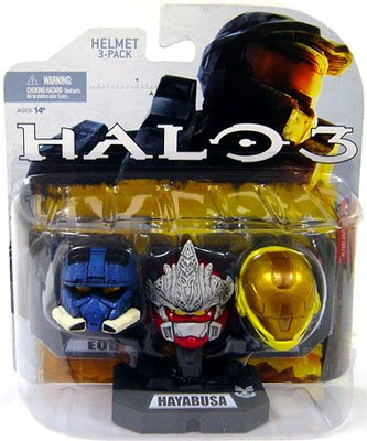 HALO Helmet 3PKs Series 1 - Set 4: EOD (Blue), Hayabusa (Red), Eva (Yellow)