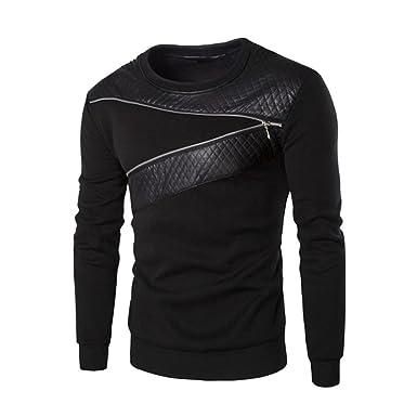 Xinan Sweatshirt Jacke Outwear Pullover Herren Winter Warmes Leder Cardigan  Mantel Kapuzenpullover Hoodie Langarm Oberbekleidung Männer c7a0e77aa5