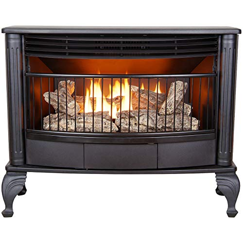 ProCom Ventless Dual Fuel Stove-25,000 BTU, Thermostatic Control Model QNSD250T, 25, black