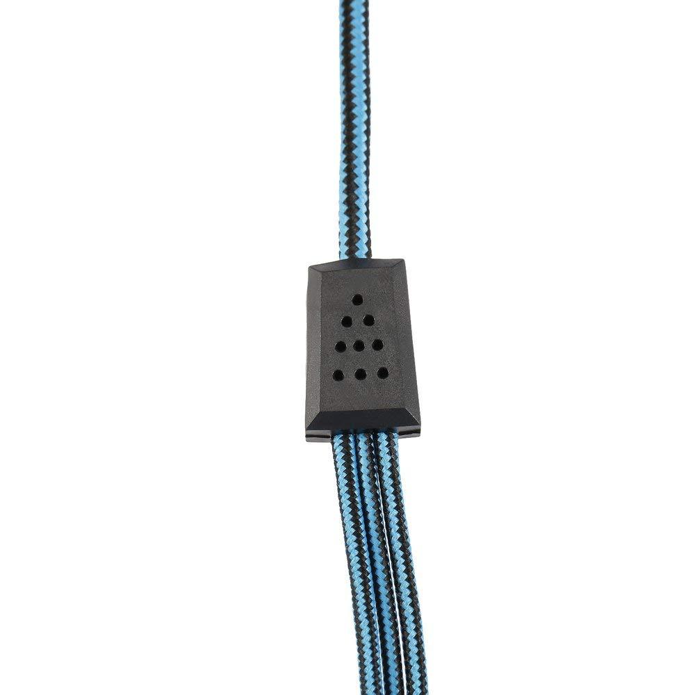 Regalo Nero e Blu DGdolph G2000 Cuffie da Gioco Portatili per Videogiochi per PC e PC