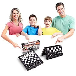 piboshi Travel Chess Set Magnetic Board Game For Kids Travel Mini Size