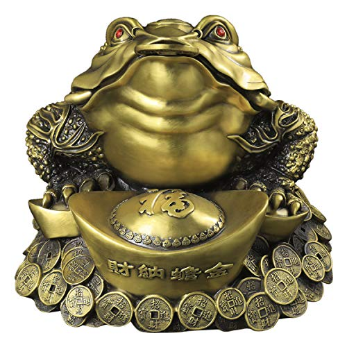 Chinese Fengshui Handmade Brass Ingots Toad Three Legged Wealth Frog Figurine Business Gift Home Shop Decoration (XXXL)