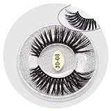 1 pairs natural false eyelashes fake lashes long makeup 3d mink lashes eyelash extension mink eyelashes for beauty box,3D-08