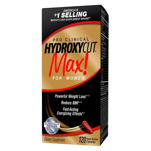 Hydroxycut Max-Pro perte de poids clinique pour les femmes, 120 capsules, effets énergisants à action rapide