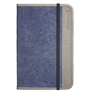 Kindle 3 Case, Snugg - Denim Leather Smart Case Cover Amazon Kindle 3 Protective Flip Stand Cover with Auto Wake / Sleep