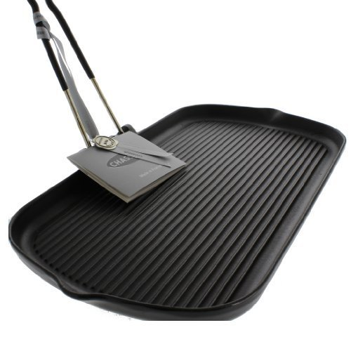 Chasseur 14-inch Rectangular French Cast Iron Grill With Folding Handle by French Home-Dropship ()