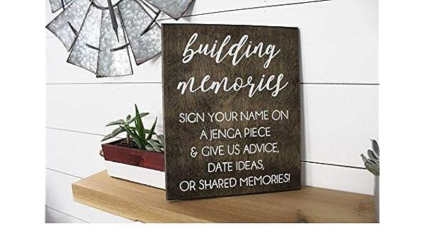 Tr674gs Jenga Guest Book Wedding Jenga Guest Book A Jenga Piece Jenga Unique Wedding Guest Book Wood Pallet Design Wall Art Sign Plaque Wooden Signs: Amazon.es: Hogar