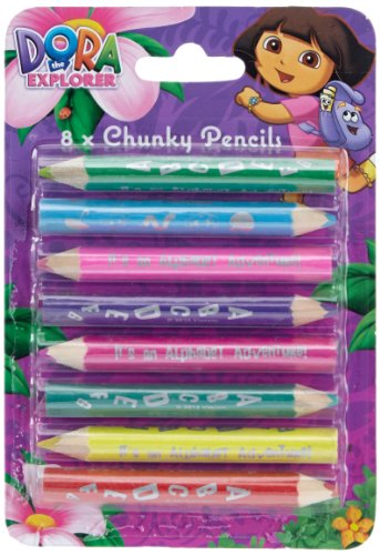 Dora The Explorer 8 PK Stationery Character Chunky - Dora Explorer Towels The
