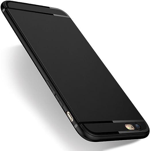 Pomufa iPhone 6s Case,iPhone 6 Case, 2019 New Version P612-B Ultra Slim Premium Flexible TPU Back Plate Anti-Fingerprint Cover Case for iPhone ...