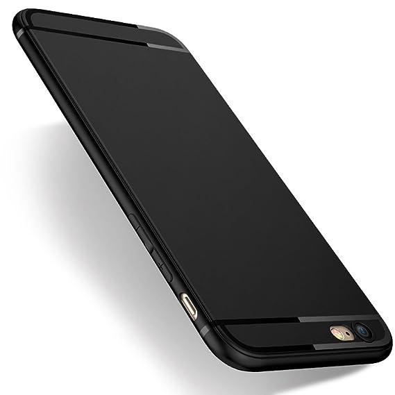more photos 4e4a4 1390a Pomufa iPhone 6s/6 Case Ultra Slim Premium Flexible TPU Back Plate  Anti-Scratch & Fingerprint Cover Case for iPhone 6s, iPhone 6 [Black]