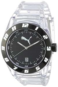 Puma A.PU910661003 - Reloj de caballero de cuarzo, correa de plástico color plata