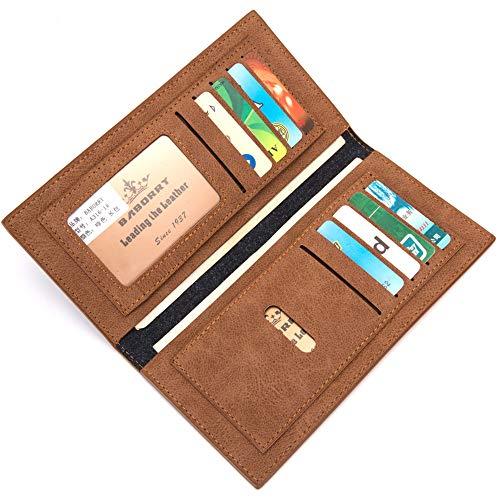 Crédit Marron Marron En D Pour Cuir Portefeuille Long couleur Paquet Hommes Cartes Forme Carte Sumferkyh Pu De pRfn7q