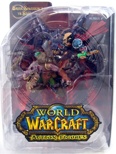 (DC Unlimited World of Warcraft Series 8: Gnome Rogue: Brink Spannercrank vs. Kobold Miner: Snaggle Action Figure 2-Pack)