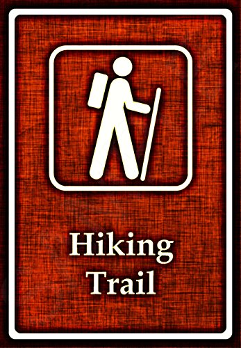 Review HIKING TRAIL Sign 8″x12″ Made In Hawaii USA All Weather Metal. Perfect For Your Log Cabin Lodge Rustic Primitive Décor. Campground National Forest Park