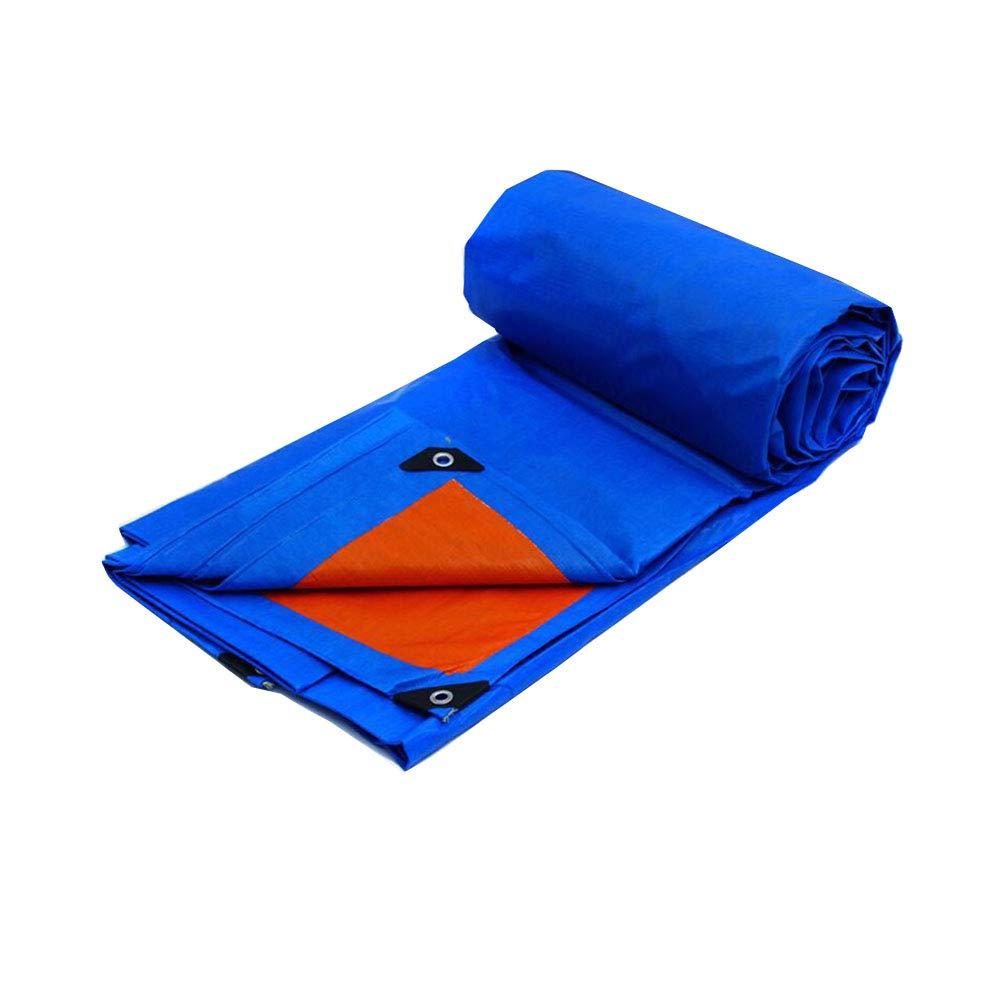 Zeltplanen CJC Plane Zelt Regenfest 175g m² Wasserdicht Boden Blatt Abdeckungen Camping Angeln Gartenarbeit (Farbe   Blau, größe   7x5m)