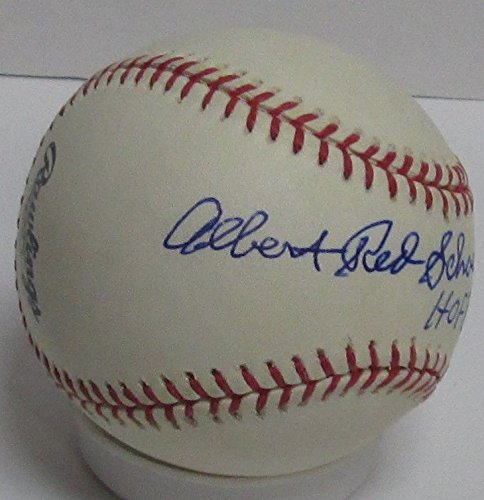 Cardinals Albert Red Schoendienst Autographed Official MLB Basebal Signed HOF '89 Certified Authentic