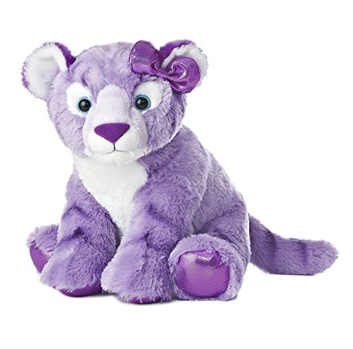 Aurora World Girlz Nation Purple Tiger Plush, 12