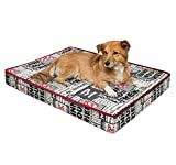 Disney Deluxe Joint Relief Deluxe Nap Mat in Minnie Newspaper, Black, 4'' (Dog / Cat Bed)