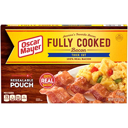 Thick Bacon Cut (Oscar Mayer Thick Cut Fully Cooked Bacon, 2.52 oz Box)