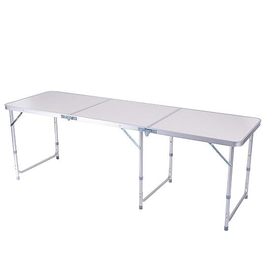 Tavoli Alluminio Pieghevoli Usati.Sunflo Tavolo Pieghevole 1 8 M Regolabile In Altezza Alluminio