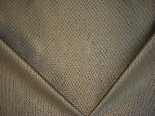 149H14 - Metallic Iridescent Pewter / Sandstone Reptile / Snake Designer Upholstery Drapery Fabric - By the ()