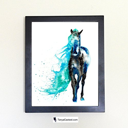 Wild Horse Spirit Animal Art Print from Watercolor - Constellation Painting