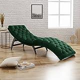 Grasby Tufted Emerald Velvet Chaise Lounge