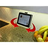 The Swivel Patented Kitchen IPad Rack / Holder for All IPads, Tablet PC's and Cookbooks Too