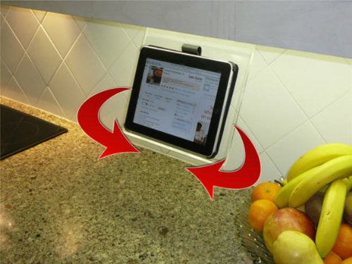 The SWIVEL Kitchen IPad Rack / Stand / Holder For All 7 10 Inch Tablets