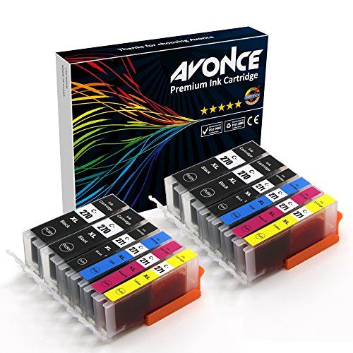 Avonce 12 pack Compatible Ink Cartridges for canon 270xl 270xlbk 271xl pgi-270xl cli-271xl for Canon Pixma MG5720, MG5721, MG5722, MG6820, MG6821, MG6822, MG7720, TS5020, TS6020, TS8020, TS9020 by AVONCE