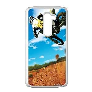 LG G2 Cell Phone Case White_Motocross Stunt 2 Lmkwt